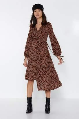 Nasty Gal Copycat Leopard Wrap Dress