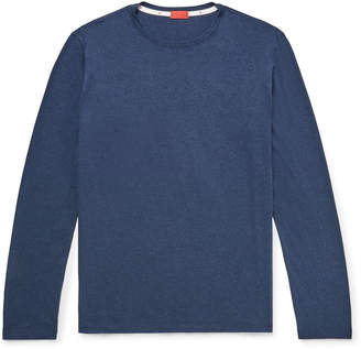 Isaia Mélange Cotton-Jersey T-Shirt