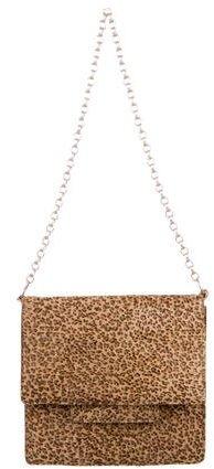 Bottega VenetaBottega Veneta Leopard Print Ponyhair Shoulder Bag