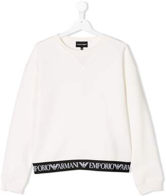 Emporio Armani Kids long sleeved logo sweater