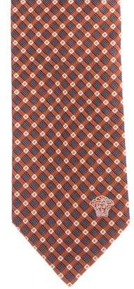 Versace Windowpane Silk Tie