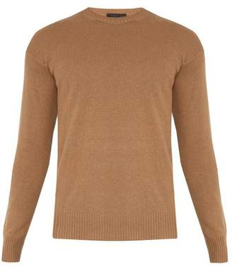 Prada - Crew Neck Cashmere Sweater - Mens - Camel