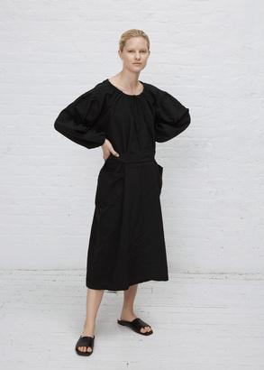Comme des Garcons GIRL black gather neck l/s dress $816 thestylecure.com