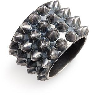 Tom Binns 'Punk Pave' Stud Ring Graphite 5