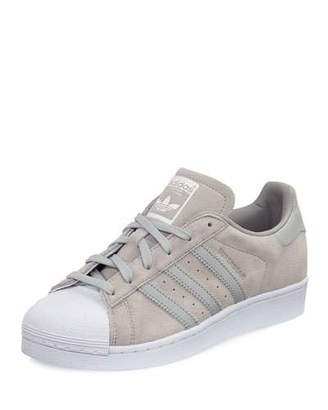 Adidas Superstar Original Suede Sneaker, Clear Onyx $85 thestylecure.com
