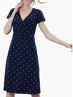 Joules Jude Wrap Dress, French Navy
