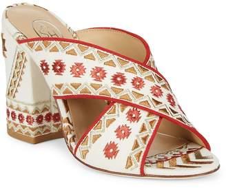 Ash Women's Adel Textile Block Heel Sandals