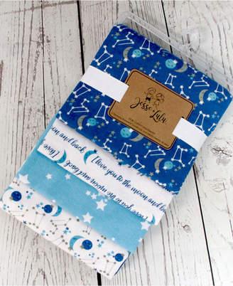 Lulu Jesse Infant 4 Pack Receiving Blankets, Galaxy