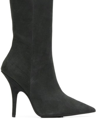 Yeezy slim fit stiletto boots