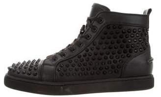 Christian Louboutin Louis Spikes Flat Sneakers