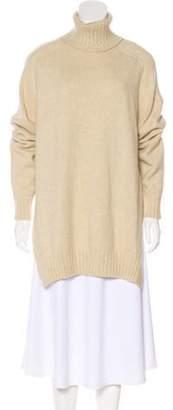 Isabel Marant Wool-Blend Sweater Beige Wool-Blend Sweater