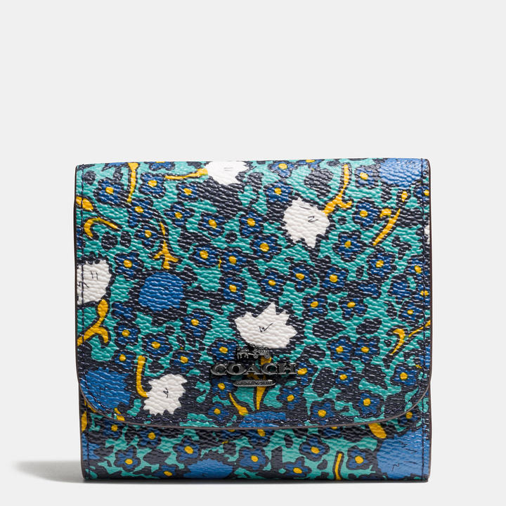 Coach  COACH Coach Small Wallet In Yankee Floral Print Canvas