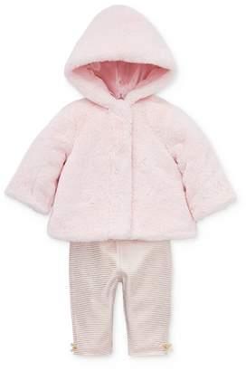 Little Me Girls' Faux Fur Jacket, Bodysuit & Leggings Set - Baby