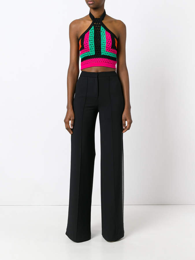 Balmain cropped knitted halterneck