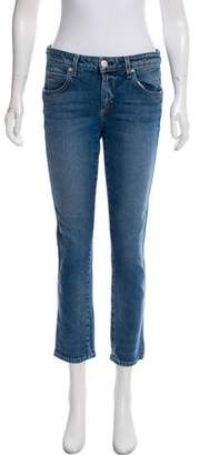 Amo Mid-Rise Straight-Leg Jeans w/ Tags