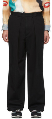 J.W.Anderson Black Pleated Chino Trousers