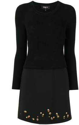 Paule Ka gemstone-embellished knit dress
