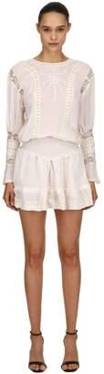 Viscose Mini Dress W/ Lace Details