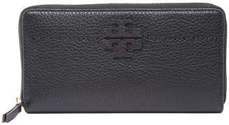 Tory Burch Mcgraw Pebbled-leather Continental Wallet