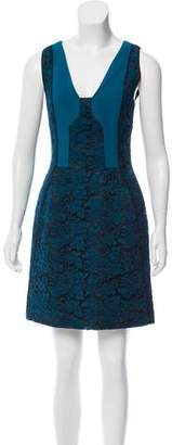 J. Mendel Lace-Paneled Mini Dress