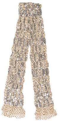 Issey Miyake Embellished Silk Scarf