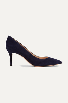 Gianvito Rossi 70 Suede Pumps - Navy