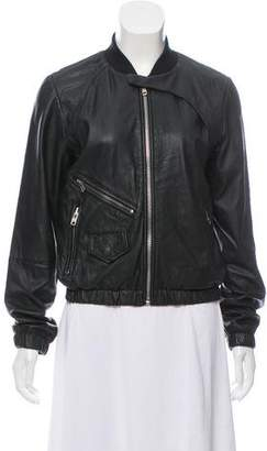 Paul Smith Zip-Up Leather Jacket