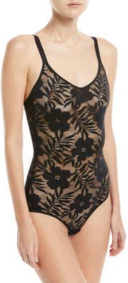 Hanro Floral Lace Illusion Bodysuit