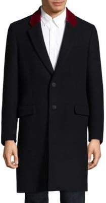 Tommy Hilfiger Contrast Lapel Wool Coat