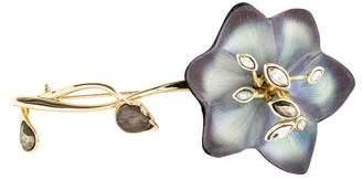 Alexis Bittar Crystal, Pyrite & Lucite Flower Brooch