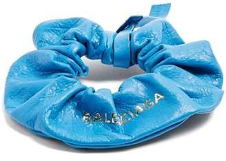 Balenciaga Leather Hair Tie - Womens - Blue