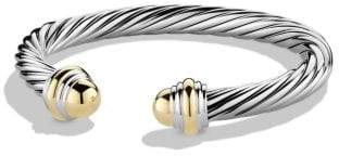 David Yurman Cable Classics Bracelet With Amethyst And 14K Gold, 7Mm