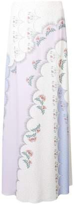 Vilshenko printed maxi skirt