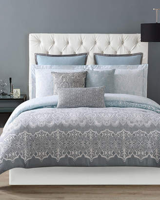 Christian Siriano Ombre Lace Blue Duvet Set