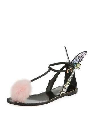 Sophia Webster Talulah Butterfly Wing Flat Sandal