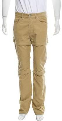 Balenciaga 2018 Corduroy Multi-Zip Casual Pants
