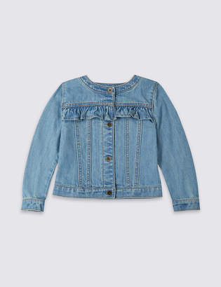 Marks and Spencer Frill Denim Jacket (3 Months - 7 Years)