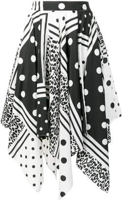 Liu Jo printed asymmetric skirt