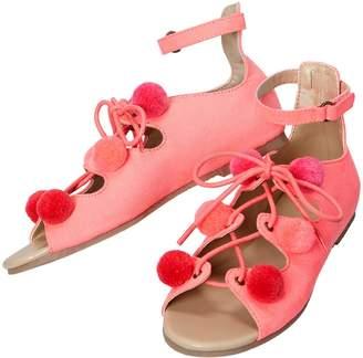 Crazy 8 Crazy8 Neon Pom-Pom Sandals