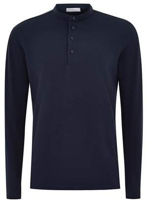Topman Mens SELECTED HOMME Navy Polo