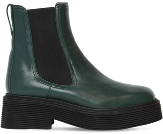 Marni 40mm Millerighe Leather Ankle Boots