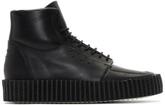 Spalwart Black Piston High-Top Sneakers