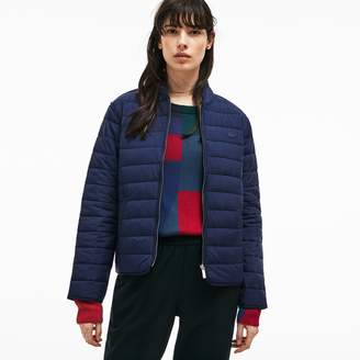 Lacoste Women's Zippered Quilted Soft Taffeta Jacket
