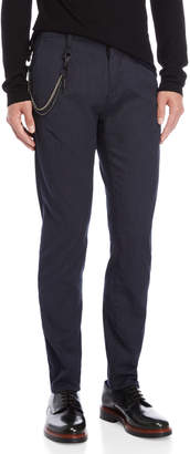 Antony Morato Blue Havel Carrot Stretch Fit Chain Pants