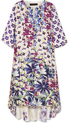 Biyan - Arlo Floral-print Silk-twill Dress - White