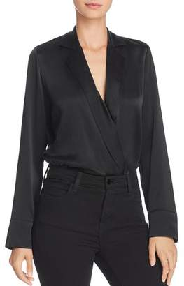 CAMI NYC Andi Lapeled Crossover Bodysuit