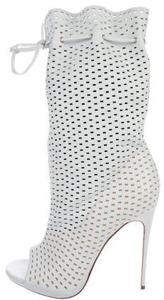 Christian Louboutin Christian Louboutin Jennifer Perforated Ankle Boots