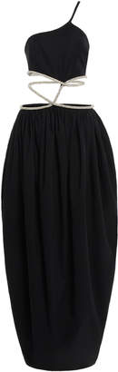 Christopher Esber Crystal Tie Cocoon Dress Size: 8