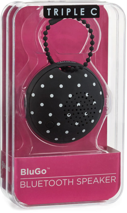Triple C Designs BluGo Portable Bluetooth Speaker, Mini Dots