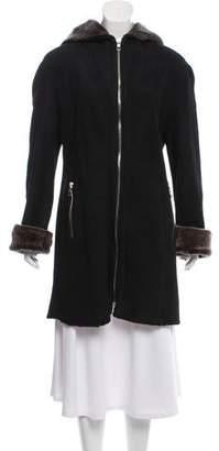 Blue Duck Hooded Shearling Coat